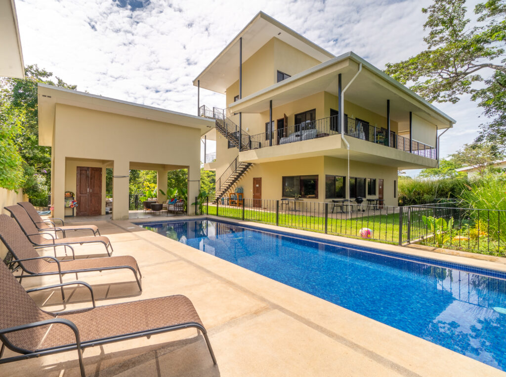 Relax by the pool when you have your yoga retreat in Costa Rica